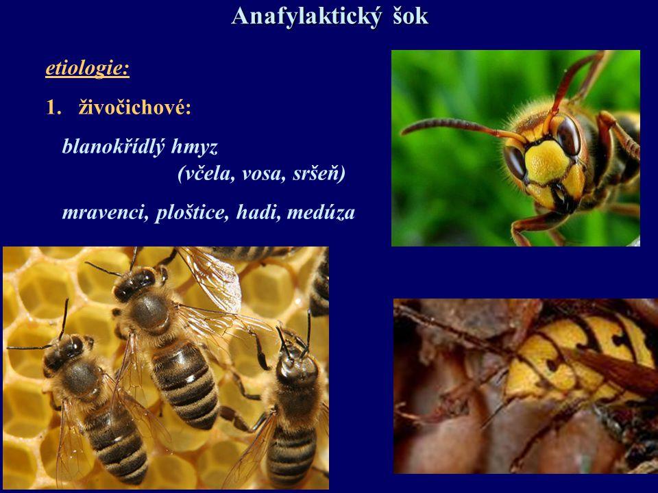 Anafylaktický šok Prevence: 1.alergická anamnéza  vyšetření alergologem 2.