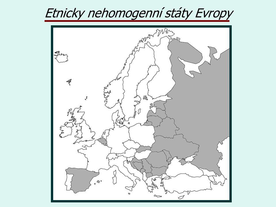 Etnicky nehomogenní státy Evropy