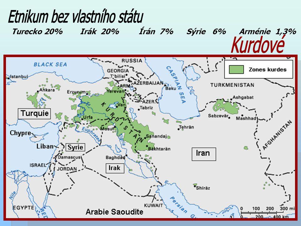 Turecko 20% Irák 20% Írán 7% Sýrie 6% Arménie 1,3%