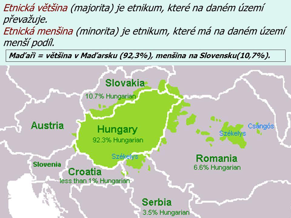 Jaký stát je Česko z hlediska etnického složení.