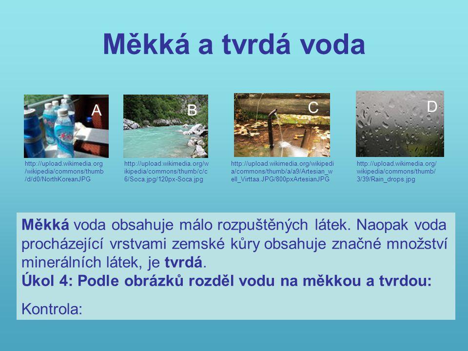 Slaná voda http://upload.wikimedia.org/wikipedia/commo ns/thumb/0/08/La_Galera.jpg/120px- La_Galera.jpg Pitná voda méně než 1 g Minerální voda více než 1 g Mořská voda přibližně 35 g Množství rozpuštěných látek v 1 l vody Slaná voda se vyskytuje především v mořích a oceánech.