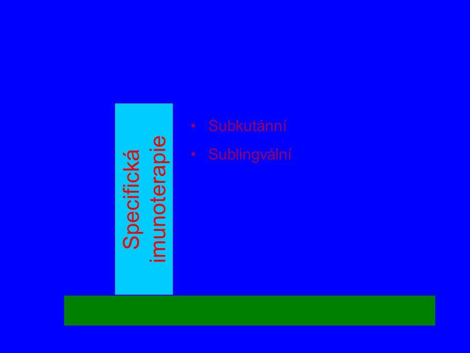 Specifická imunoterapie •Subkutánní •Sublingvální