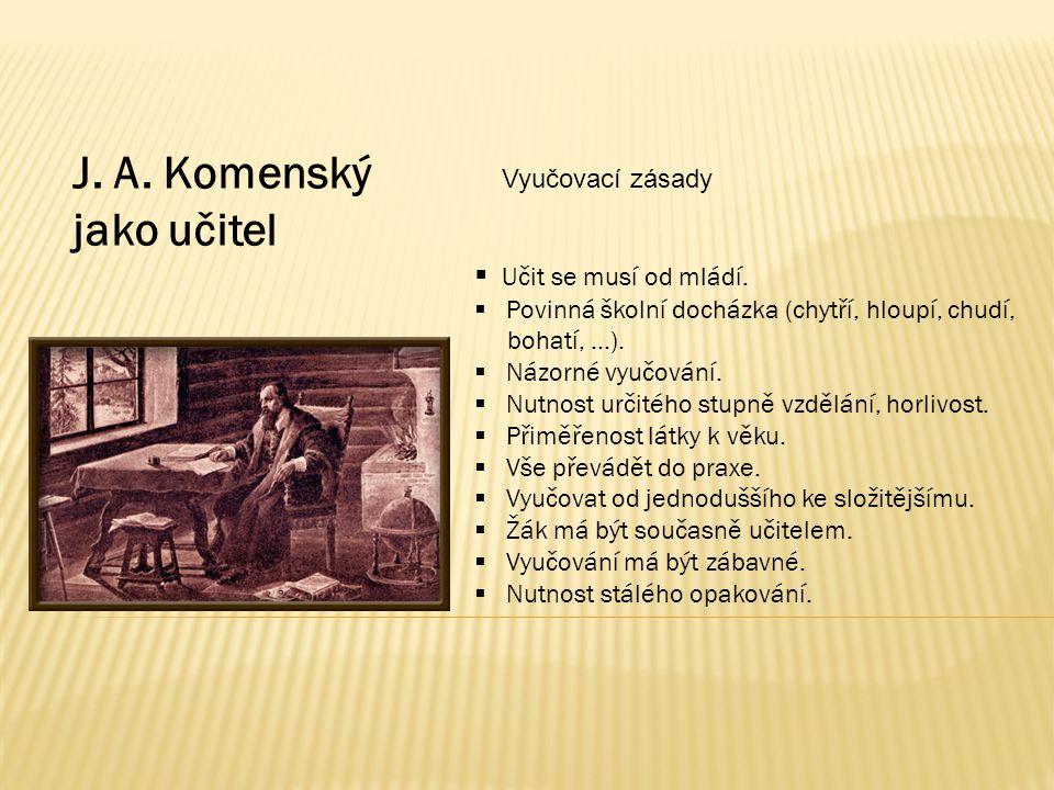 Citáty J.A. Komenského Nejstarší dochovaný rukopis J.