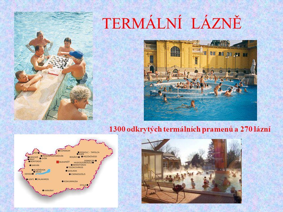 TERMÁLNÍ LÁZNĚ 1300 odkrytých termálních pramenů a 270 lázní