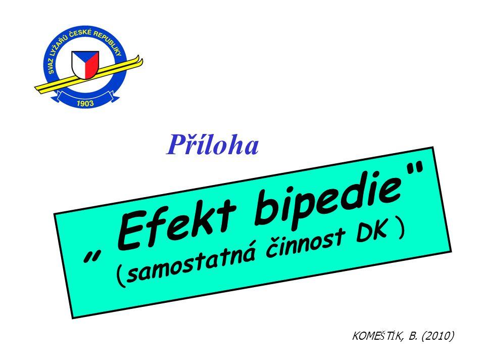"""Příloha """" Efekt bipedie"""" (samostatná činnost DK ) KOME Š T Í K, B. (2010)"""