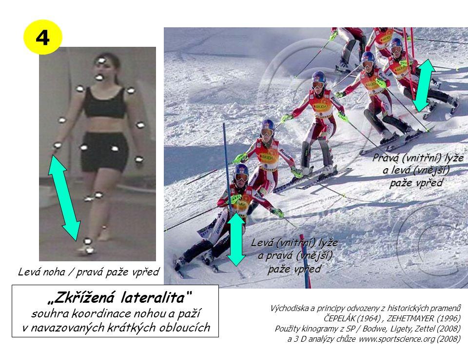 Levá noha / pravá paže vpřed Východiska ČEPELÁK (1964) Principy ZEHETMAYER (1996) École du sci francais MEMENTO (2005) 3 D analýza chůze www.sportscie