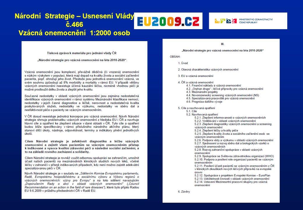 """Ustanovení první skupiny """"pilotních center (květen 2012) Meziresortní a mezioborová komise pro vzácná onemocnění při MZČR"""