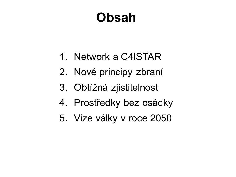 Obsah 1.Network a C4ISTAR 2. Nové principy zbraní 3.