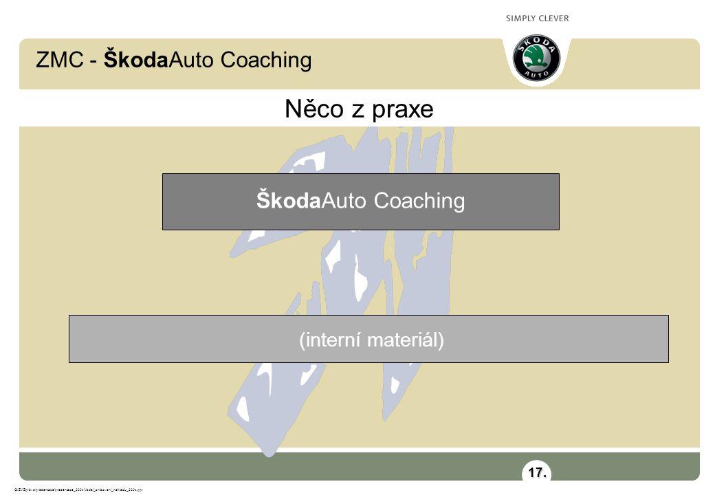 ZMC - ŠkodaAuto Coaching G:\ZV\Zpráva\prezentace\prezentace_2004\Vzdel_snizovani_nakladu_2004.ppt (interní materiál) Něco z praxe ŠkodaAuto Coaching 17.