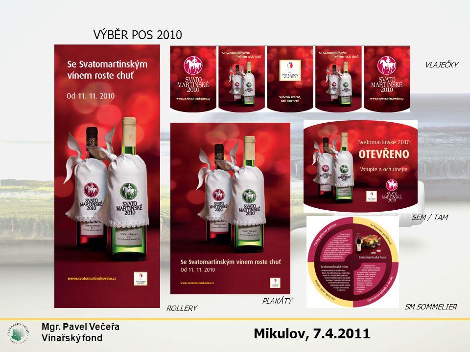 VÝBĚR POS 2010 ROLLERY SEM / TAM VLAJEČKY PLAKÁTY SM SOMMELIER Mgr. Pavel Večeřa Vinařský fond Mikulov, 7.4.2011