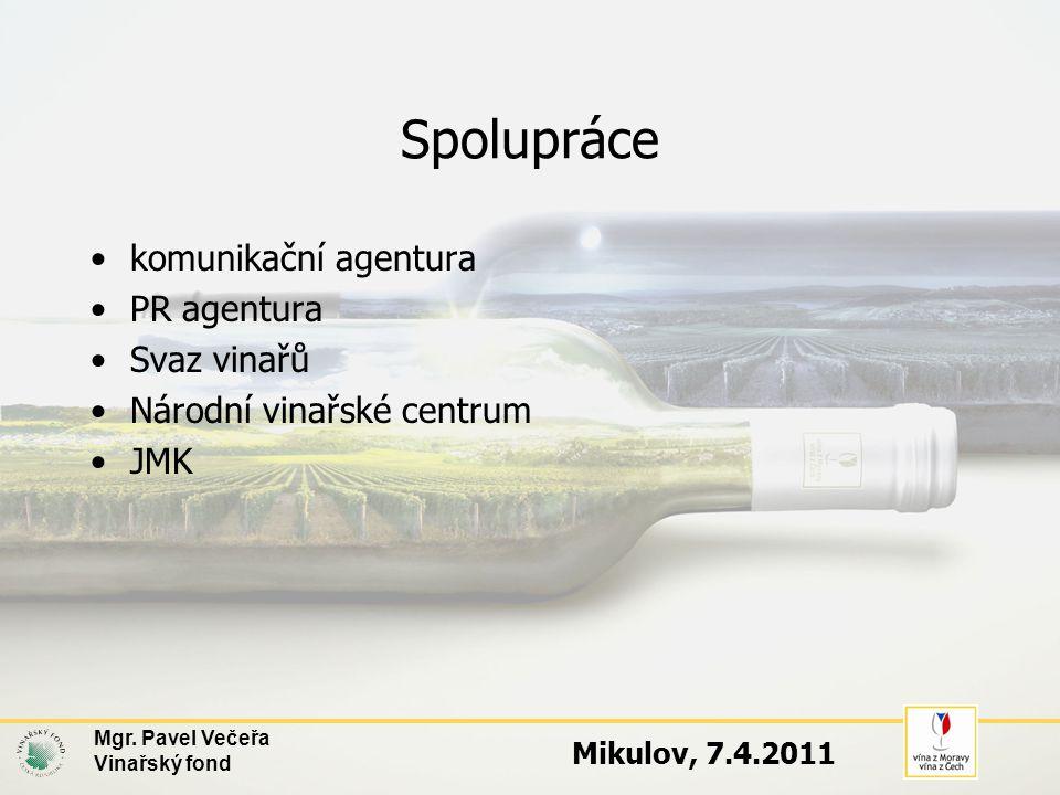 5. VÝSTAVNICTVÍ Mgr. Pavel Večeřa Vinařský fond Mikulov, 7.4.2011