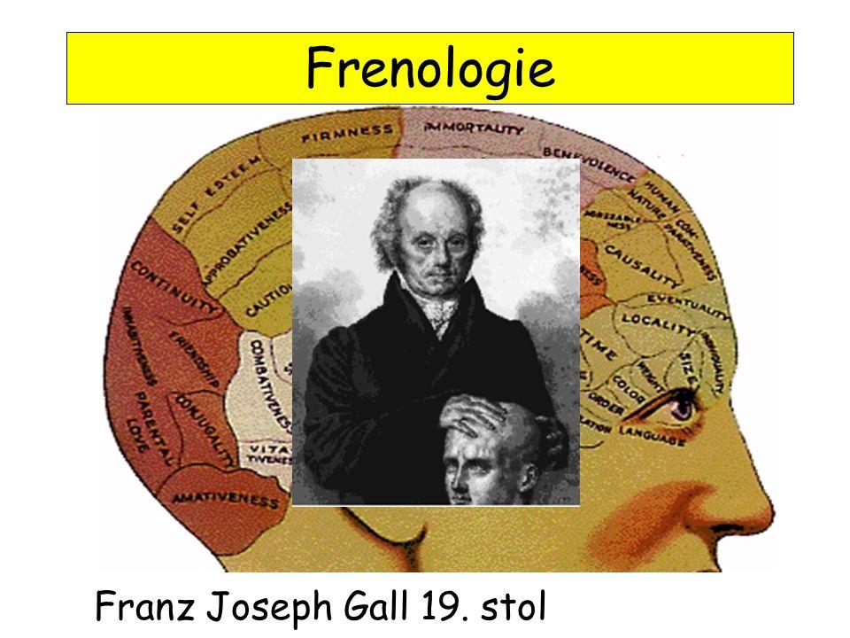 Franz Joseph Gall 19. stol Frenologie