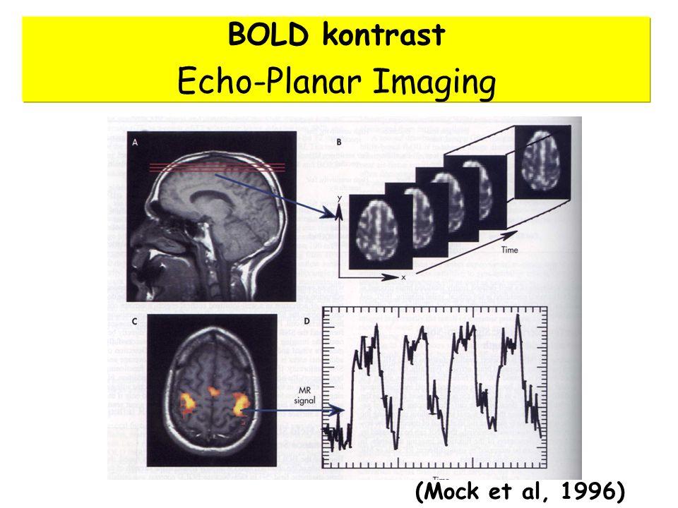 BOLD kontrast Echo-Planar Imaging (Mock et al, 1996)