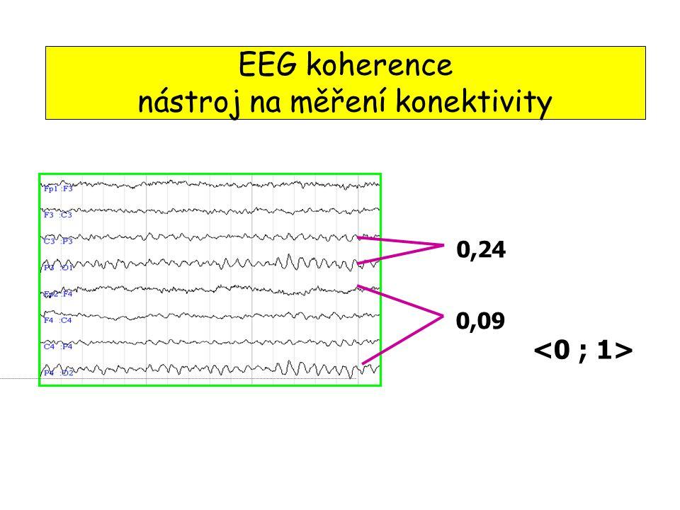 EEG koherence nástroj na měření konektivity 0,24 0,09