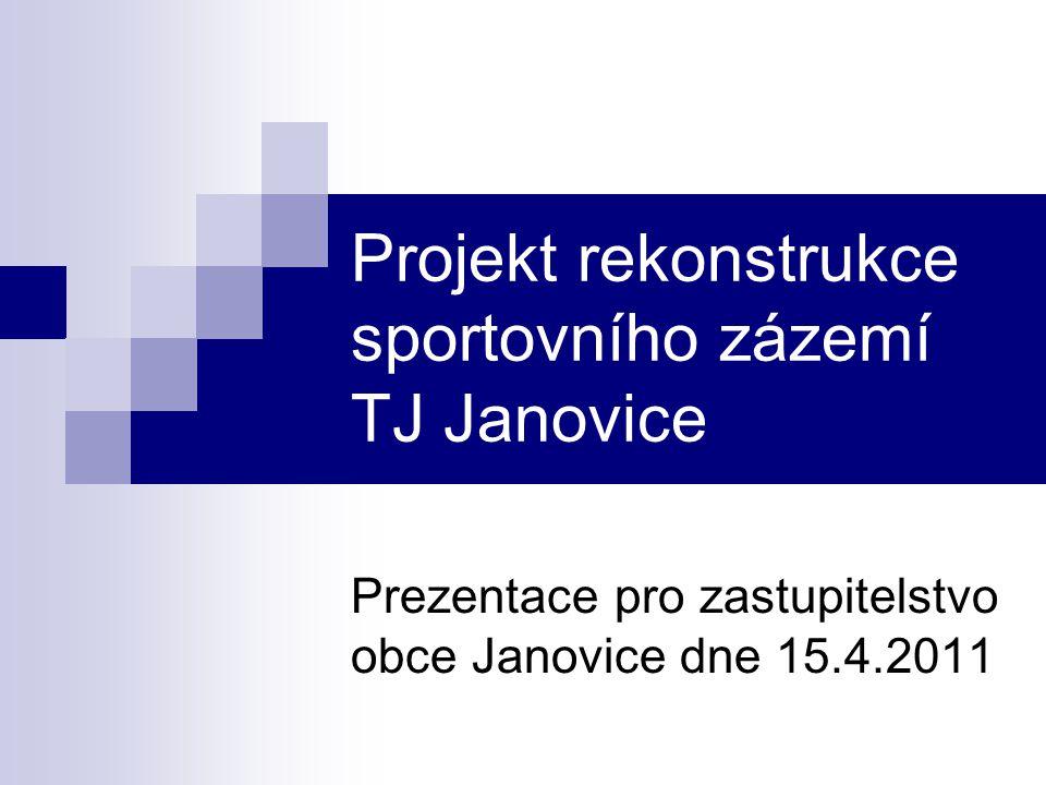 Projekt rekonstrukce sportovního zázemí TJ Janovice Prezentace pro zastupitelstvo obce Janovice dne 15.4.2011