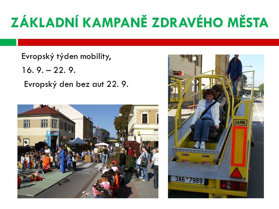 ZÁKLADNÍ KAMPANĚ ZDRAVÉHO MĚSTA Evropský týden mobility, 16.