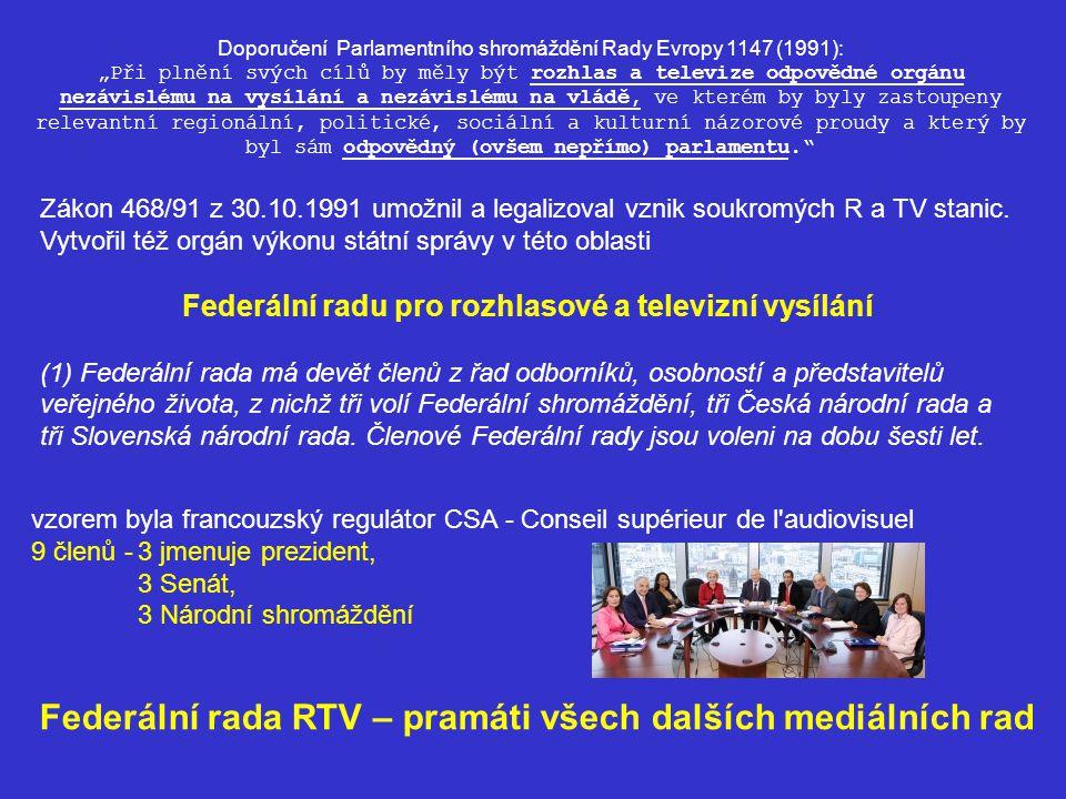 Zákon 468/91 z 30.10.1991 umožnil a legalizoval vznik soukromých R a TV stanic.