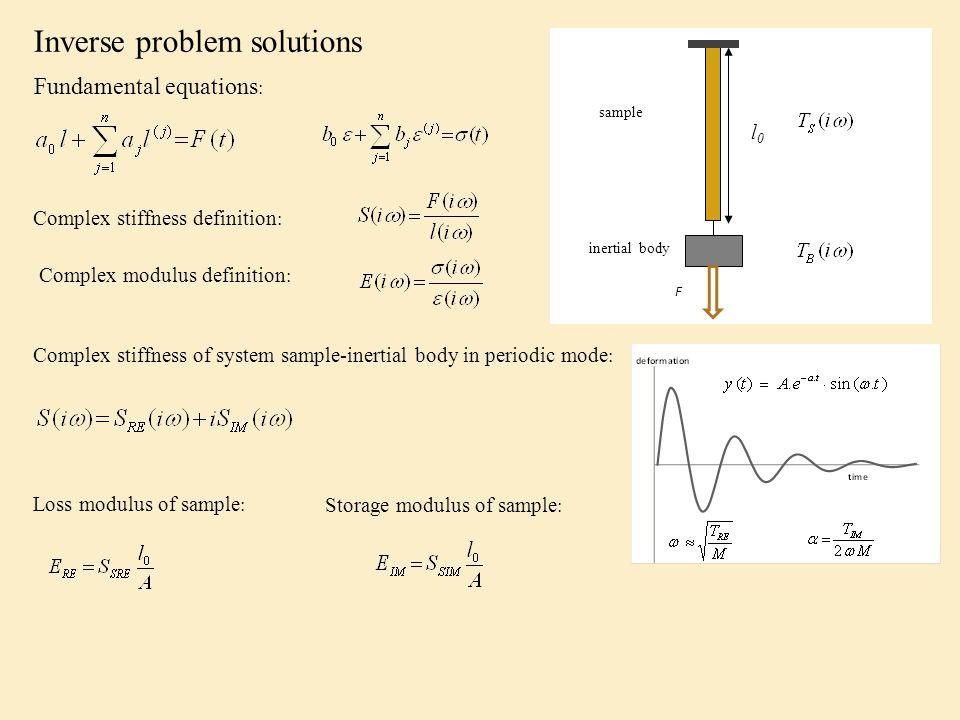 Teorie chování lineárních mechanických systémů Základní diferenciální rovnice kde a a b jsou koeficienty, i a j jsou stupně derivace, l je deformace, f je namáhání Pokud je vstupní veličina síla F a výstupní veličina deformace l, lze vztah napsat ve jednodušší formě