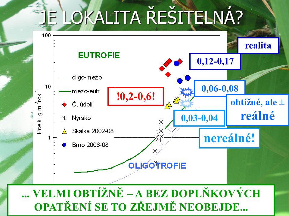 VN BRNO – ŘEŠENÍ(?) OŠETŘENÍ PŘÍTOKU  SNÍŽENÍ VSTUPU P (náhrada za dokonalé ošetření zdrojů P v povodí) Problém: - vysoká průtočnost nádrže  velký objem koagulantu  vysoké náklady POTENCIÁLNĚ PŘÍNOSNÉ OPATŘENÍ - velká citlivost na povodňové průtoky  vysoké náklady - nutnost ošetřit už jarní plnění nádrže  vysoké náklady jeho přínosnost poroste se zlepšováním stavu povodí!