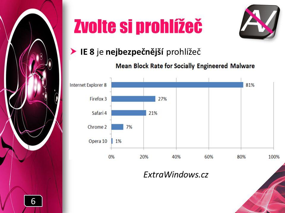 Zvolte si prohlížeč  IE 8 je nejbezpečnější prohlížeč ExtraWindows.cz 6
