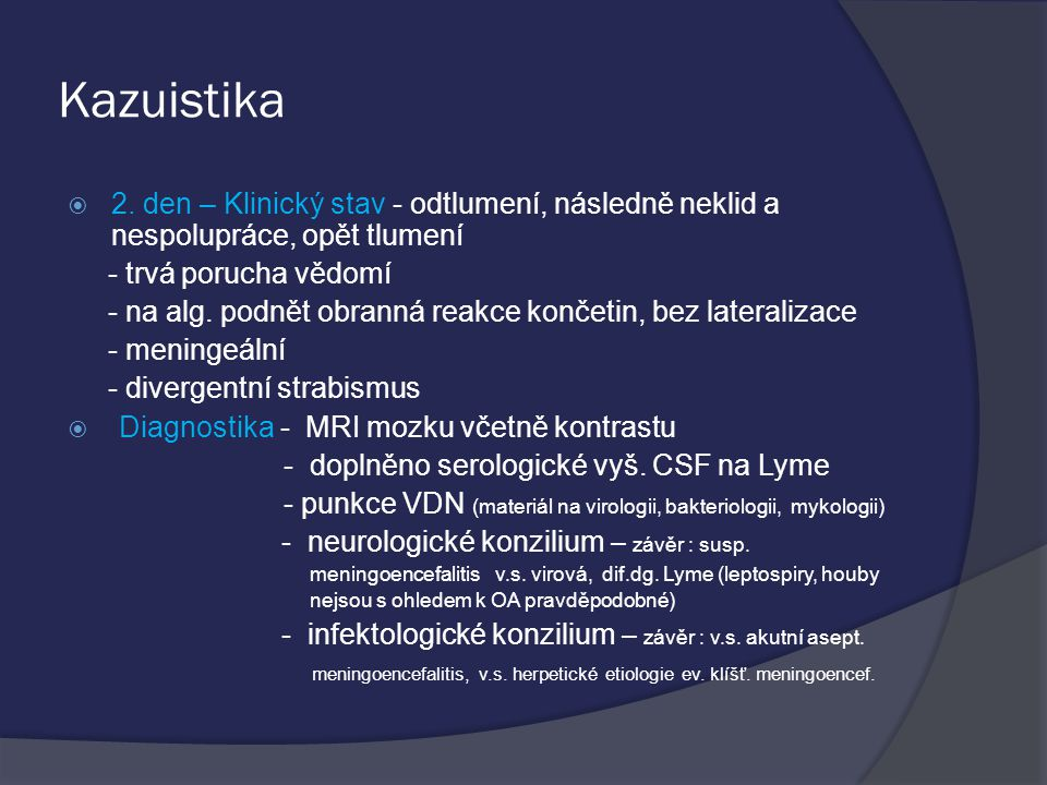 Kazuistika  2.