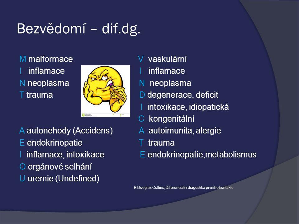 Bezvědomí – dif.dg.