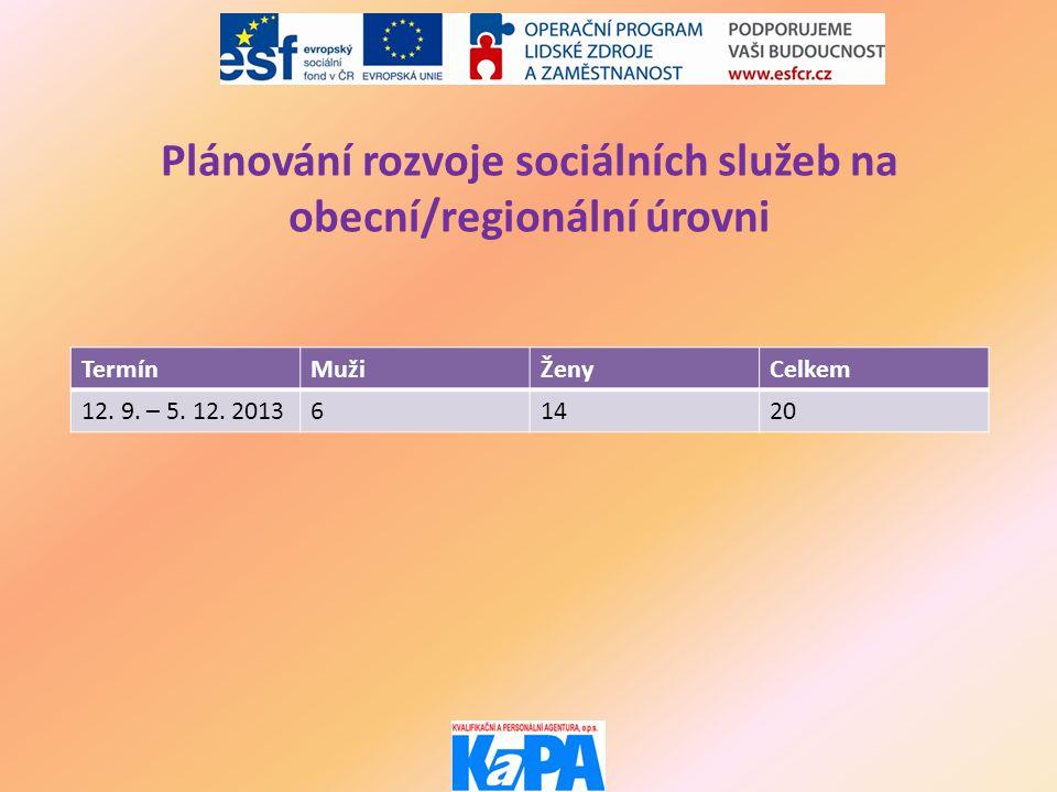 Tematické semináře TermínTémaPočet osob 20.6. 2013Propojení soc.