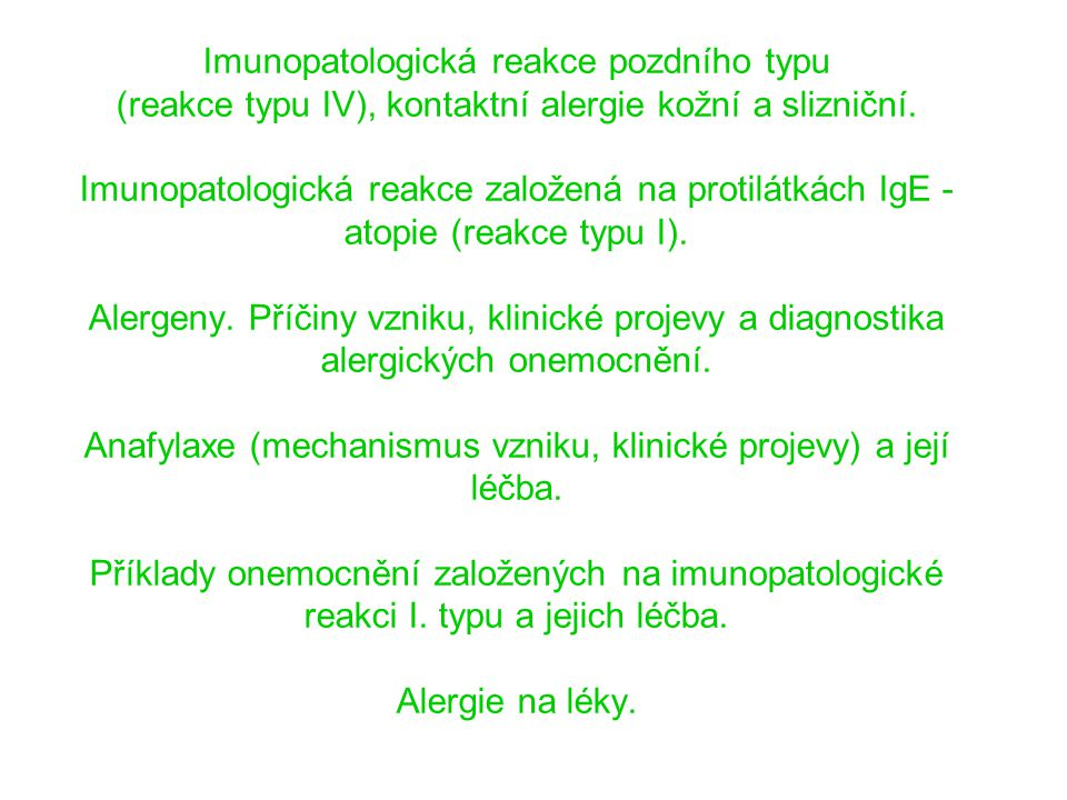 Cytotoxická reakce l PNC, cefalo l rifampicin l alfametyldopa