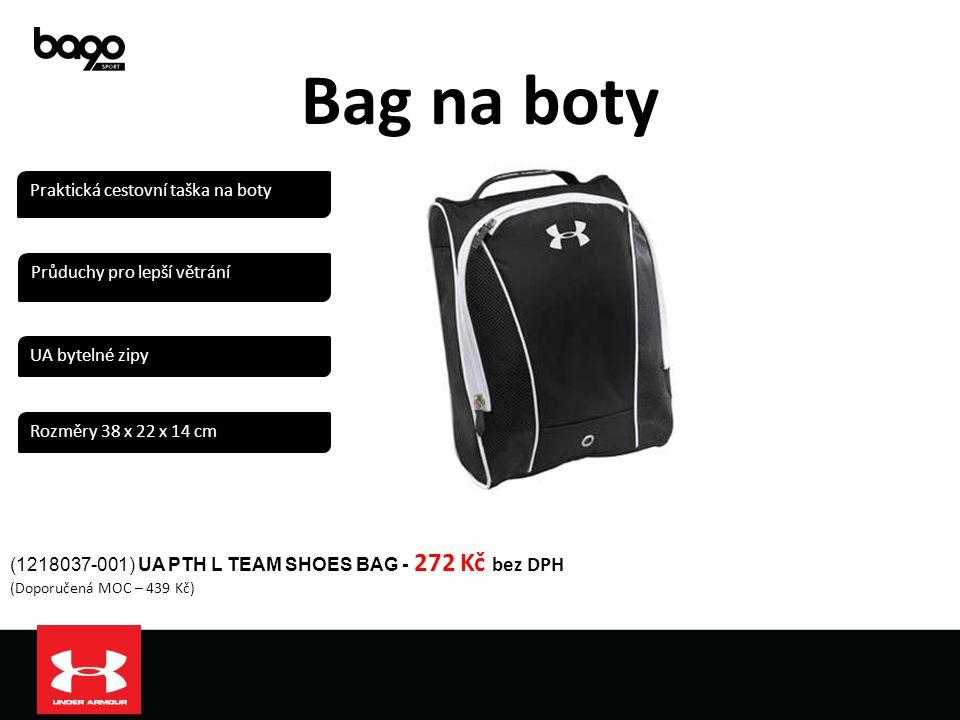 Bag na boty (1218037-001) UA PTH L TEAM SHOES BAG - 272 Kč bez DPH (Doporučená MOC – 439 Kč) Praktická cestovní taška na boty Průduchy pro lepší větrá