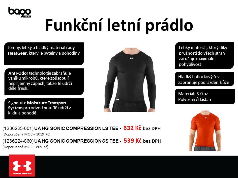 Funkční letní prádlo (1236223-001) UA HG SONIC COMPRESSION LS TEE - 632 Kč bez DPH (Doporučená MOC – 1019 Kč) (1236224-860) UA HG SONIC COMPRESSION SS