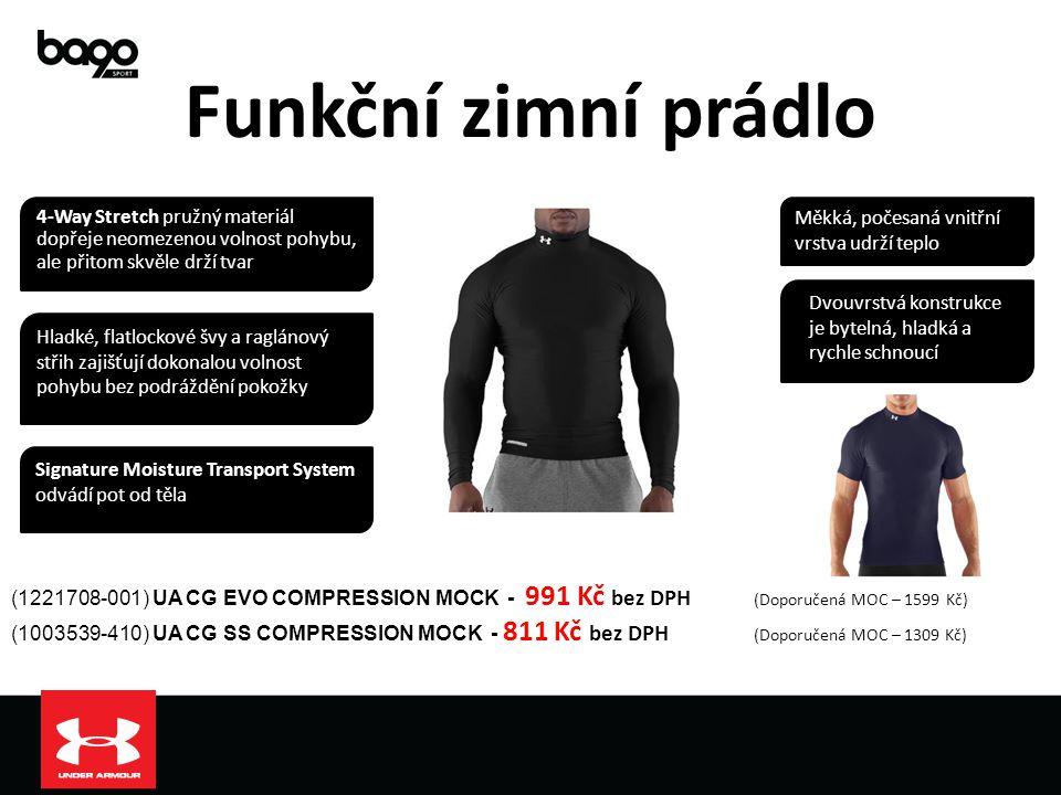 Funkční zimní prádlo (1221708-001) UA CG EVO COMPRESSION MOCK - 991 Kč bez DPH (Doporučená MOC – 1599 Kč) (1003539-410) UA CG SS COMPRESSION MOCK - 81
