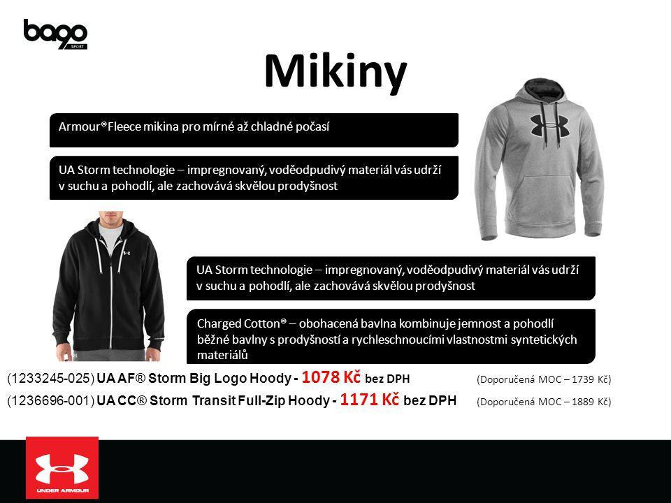 Mikiny (1233245-025) UA AF® Storm Big Logo Hoody - 1078 Kč bez DPH (Doporučená MOC – 1739 Kč) (1236696-001) UA CC® Storm Transit Full-Zip Hoody - 1171