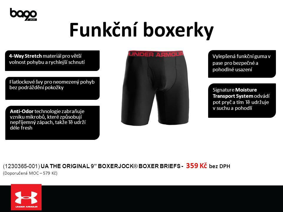 """Funkční boxerky (1230365-001) UA THE ORIGINAL 9"""" BOXERJOCK® BOXER BRIEFS - 359 Kč bez DPH (Doporučená MOC – 579 Kč) 4-Way Stretch materiál pro větší v"""
