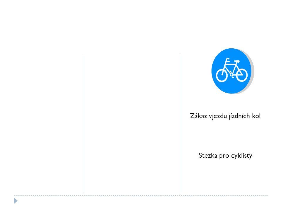 Zákaz vjezdu jízdních kol Stezka pro cyklisty