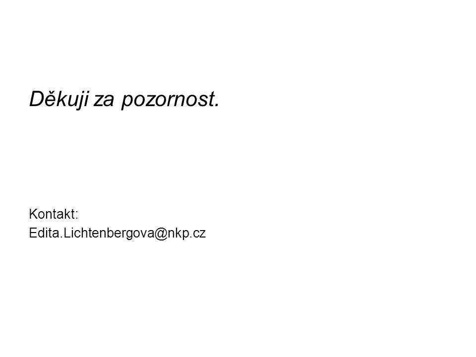 Děkuji za pozornost. Kontakt: Edita.Lichtenbergova@nkp.cz