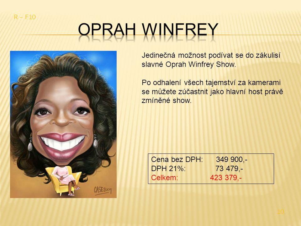 Jedinečná možnost podívat se do zákulisí slavné Oprah Winfrey Show.