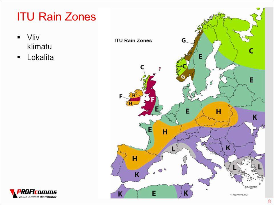 8 ITU Rain Zones  Vliv klimatu  Lokalita