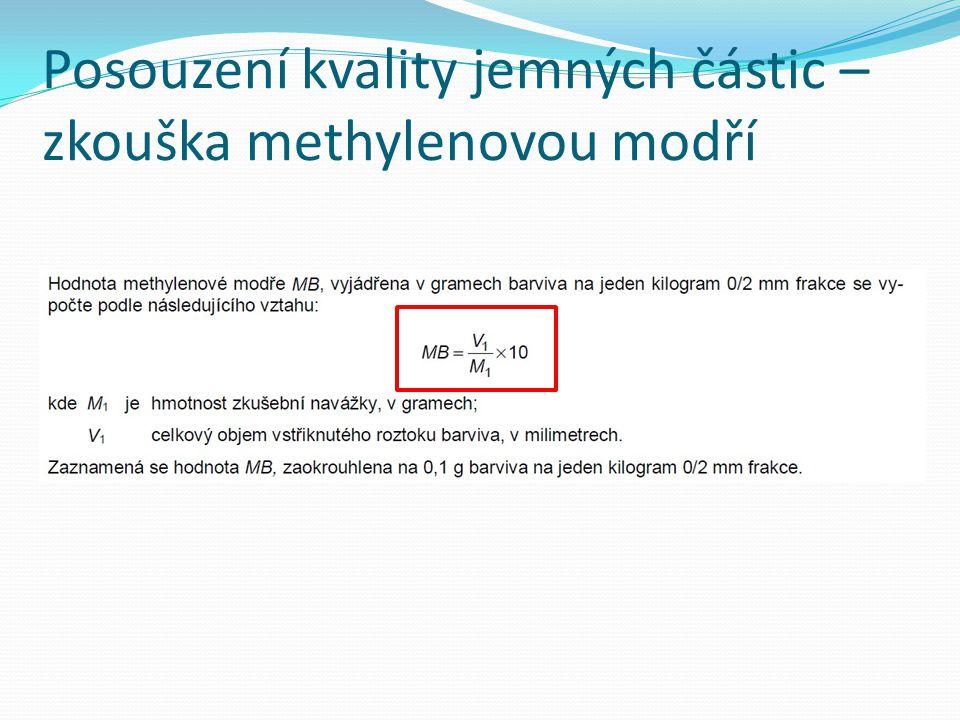 Posouzení kvality jemných částic – zkouška methylenovou modří