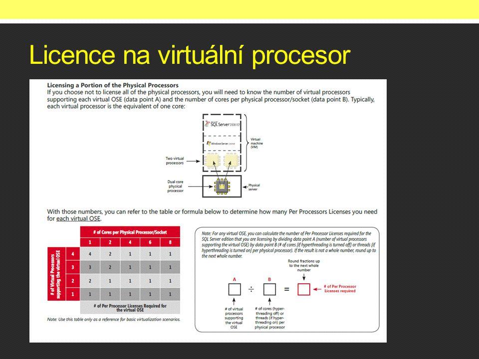 Licence na virtuální procesor