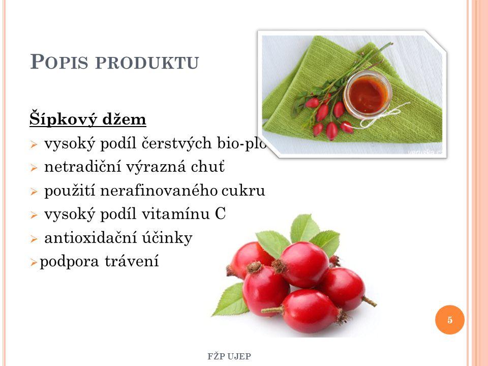 P OPIS PRODUKTU Šípkový džem  vysoký podíl čerstvých bio-plodů  netradiční výrazná chuť  použití nerafinovaného cukru  vysoký podíl vitamínu C  a