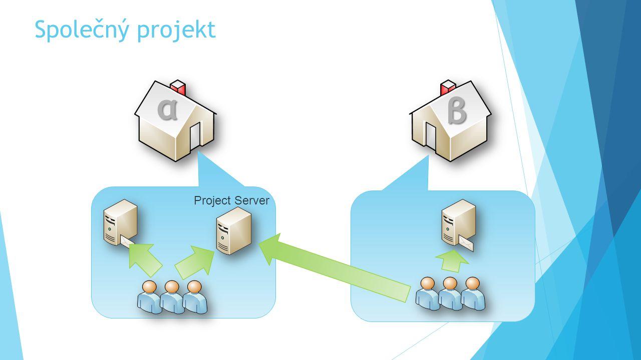 Společný projekt αβγδτωε α β Project Server