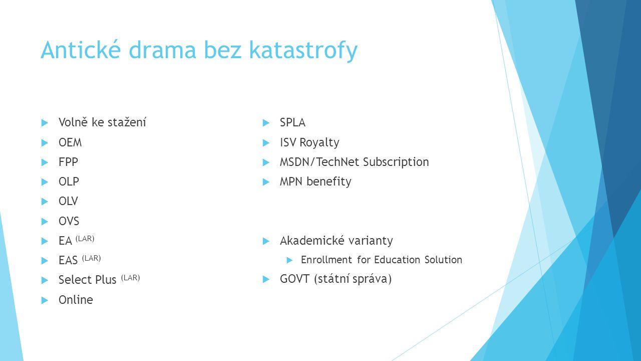 Antické drama bez katastrofy  Volně ke stažení  OEM  FPP  OLP  OLV  OVS  EA (LAR)  EAS (LAR)  Select Plus (LAR)  Online  SPLA  ISV Royalty