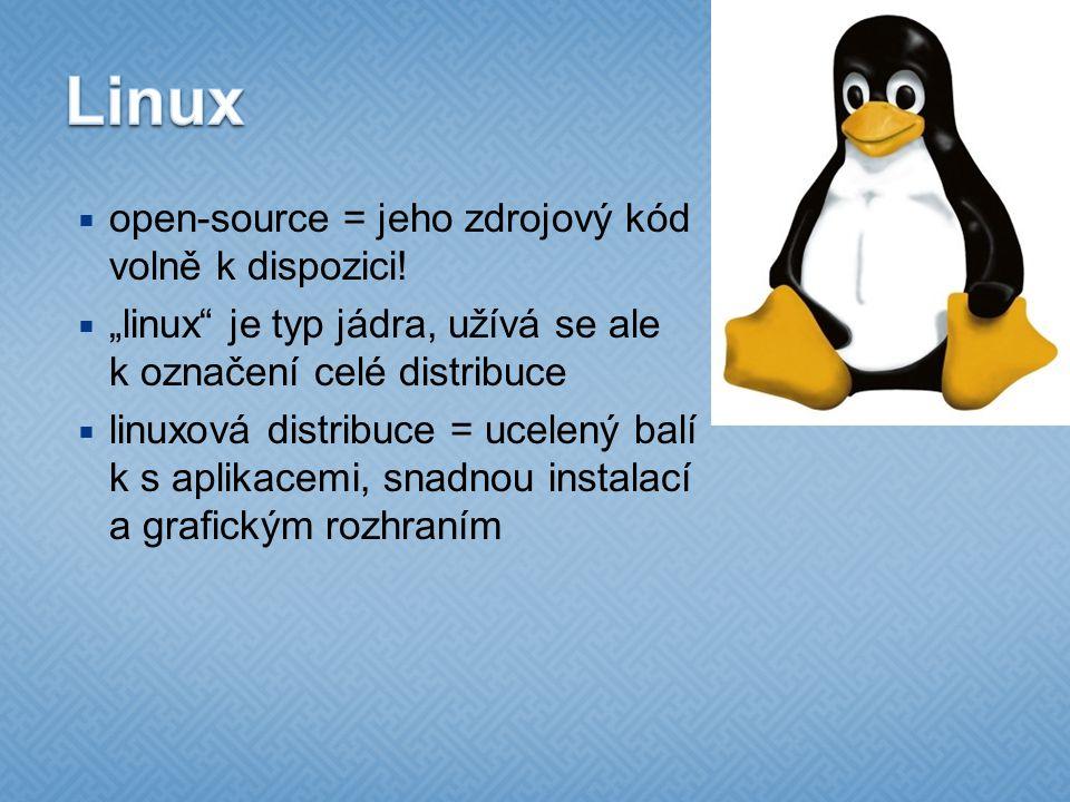  open-source = jeho zdrojový kód volně k dispozici.