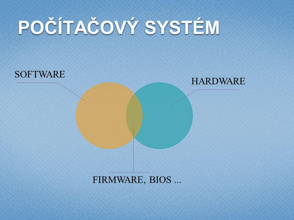 SOFTWARE? Proč potřebujeme software?