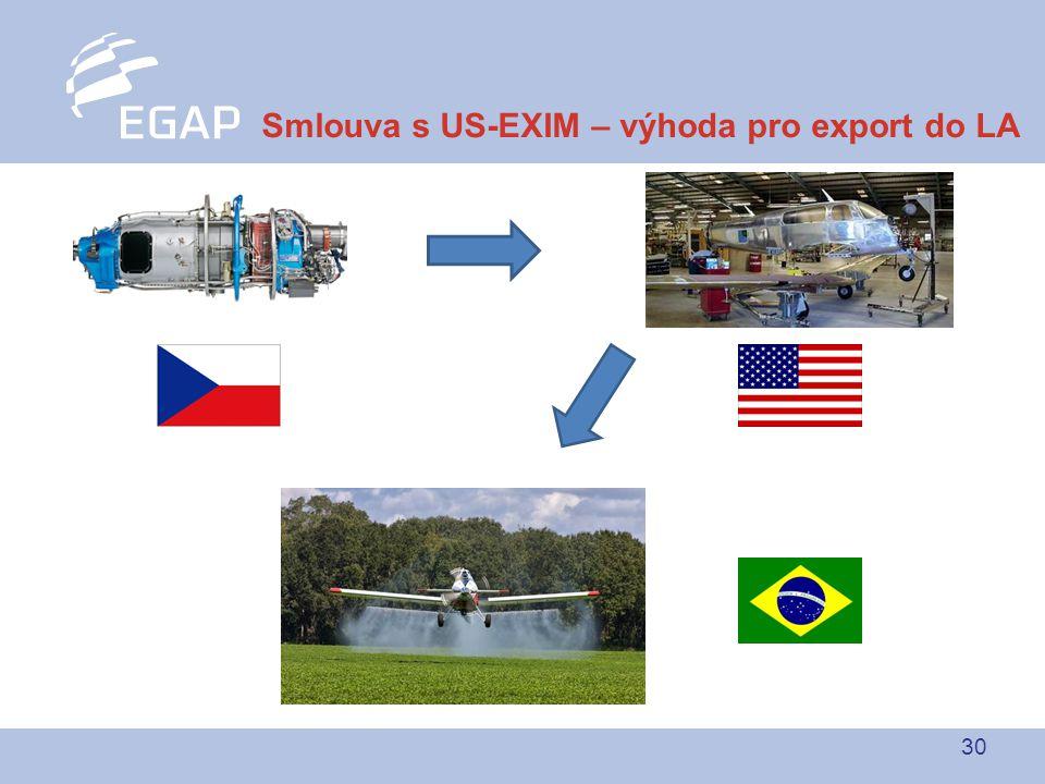 30 Smlouva s US-EXIM – výhoda pro export do LA