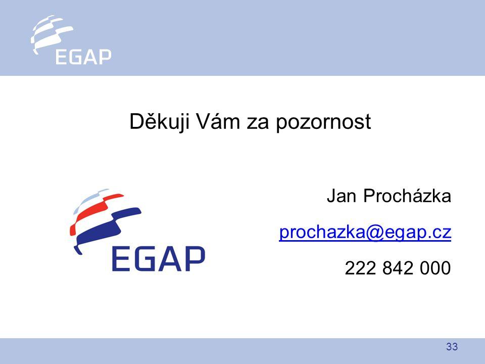 33 Děkuji Vám za pozornost Jan Procházka prochazka@egap.cz 222 842 000
