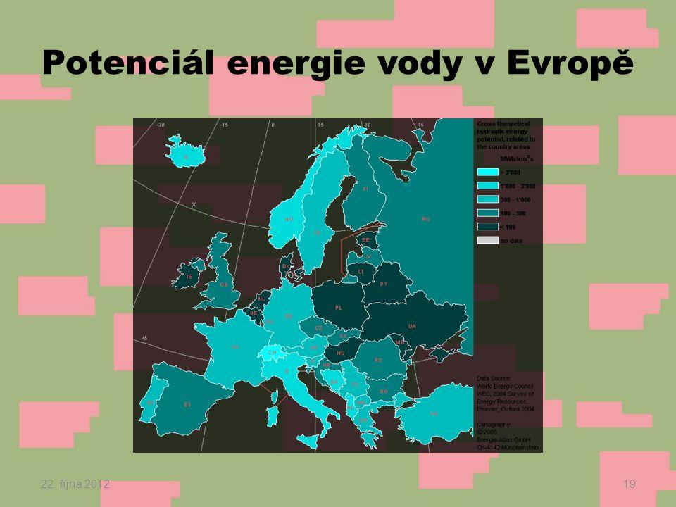 Potenciál energie vody v Evropě 22. října 201219