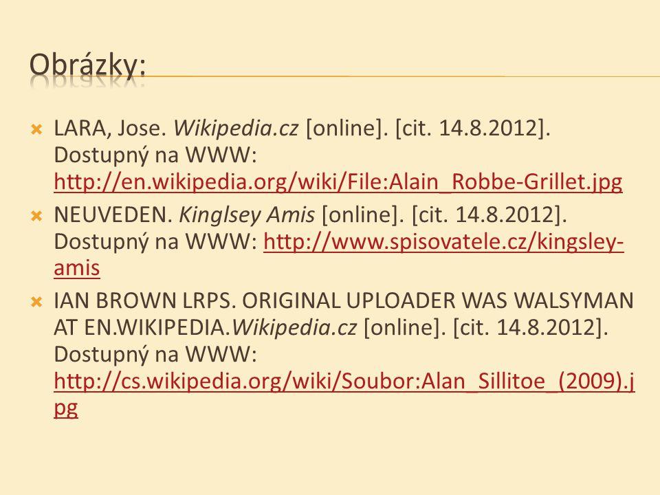  LARA, Jose. Wikipedia.cz [online]. [cit. 14.8.2012].