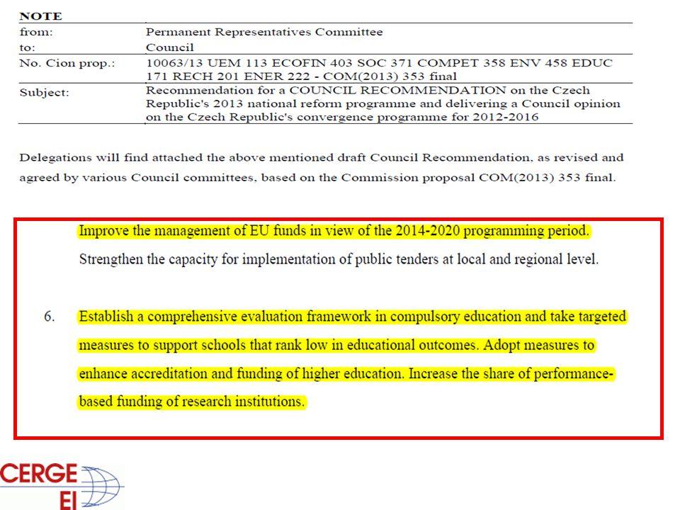 Normativní financování • Stropy počtu financovaných studentů (B, MA, nMA, PhD) závisí na Indikátorech Kvality a Výkonu