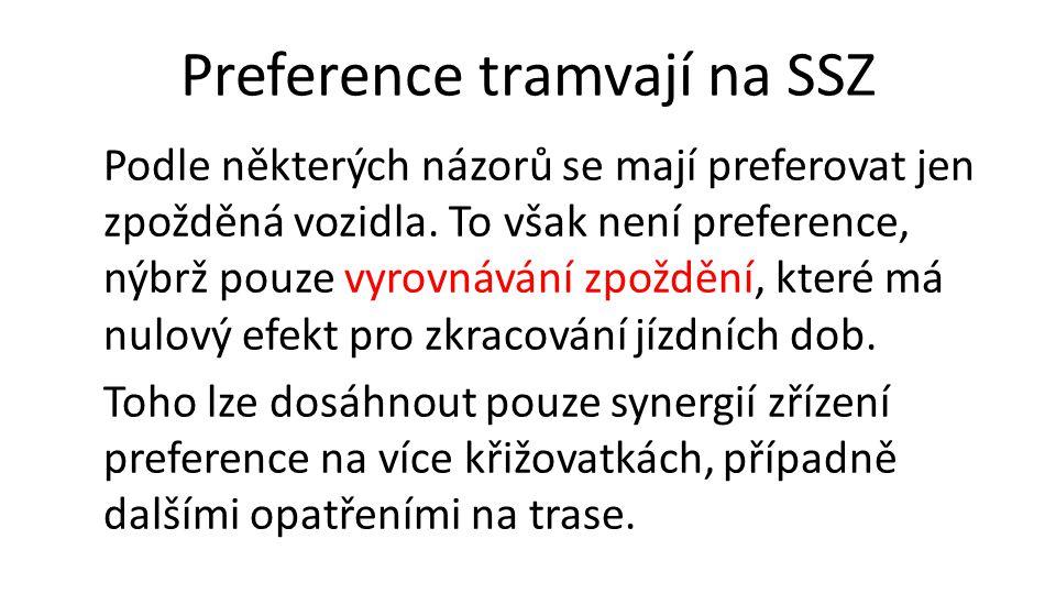 Preference tramvají na SSZ Podle některých názorů se mají preferovat jen zpožděná vozidla.